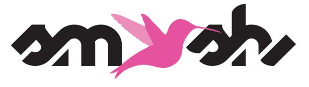smash logo black and pink